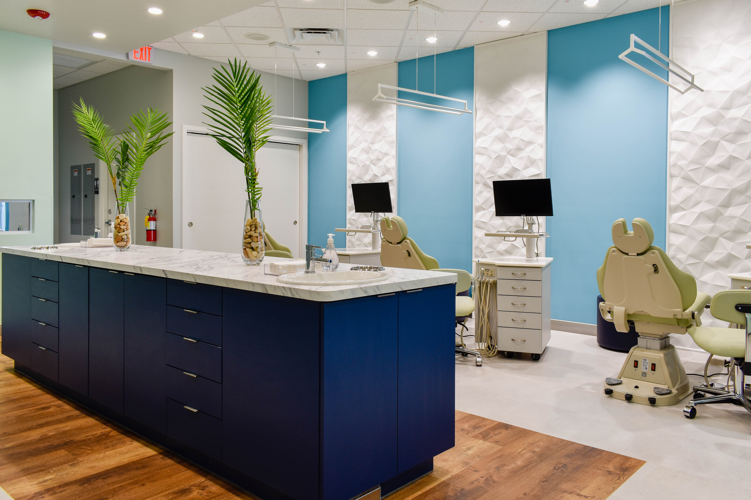Origami Orthodontics treatment room for Invisalign (clear aligners) and traditional or clear braces treatment.